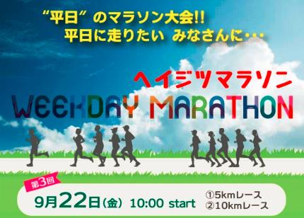 『第3回 ヘイジツマラソン in 庄内緑地』