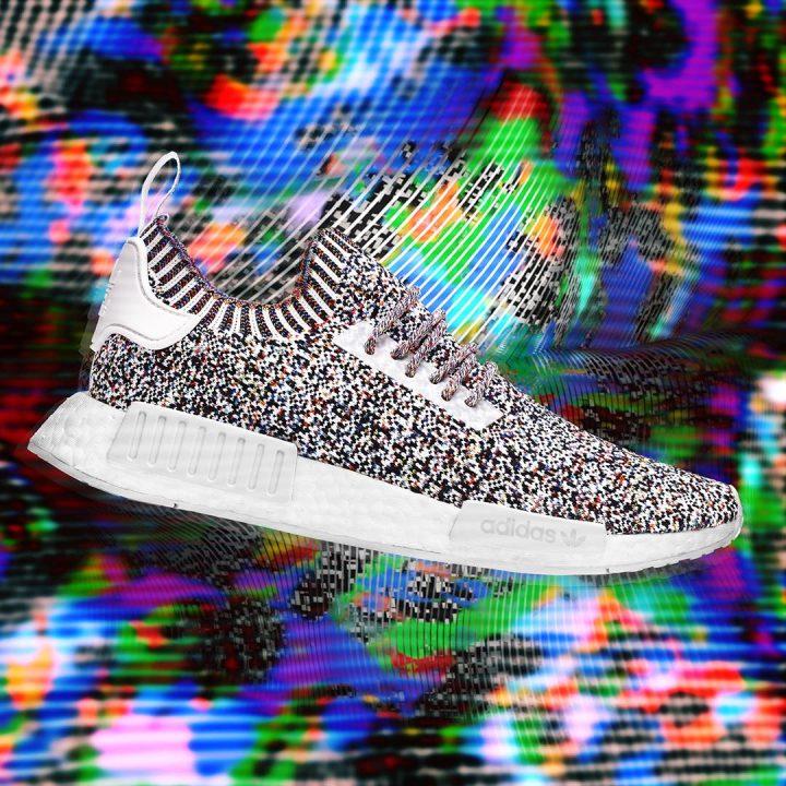 """「adidas Originals」で大人気の""""NMD_R1""""のニューカラーはテレビの電波ノイズからインスピレーションを得たユニークカラー"""