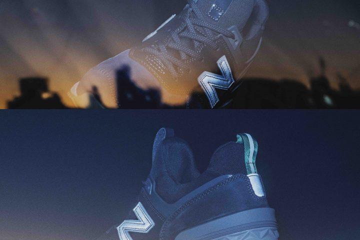 """「new balance」と「mita sneakers」のコラボは""""日の出""""前と""""日の入り""""後に現れる""""濃いブルーの空""""がコンセプト"""