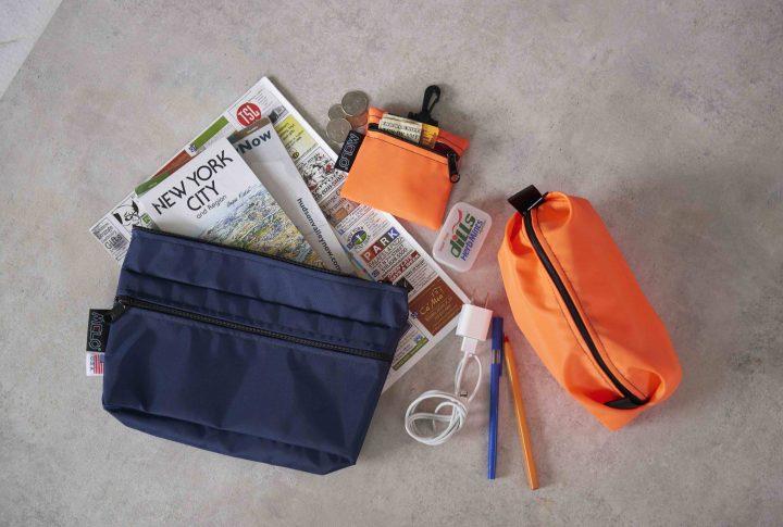 「MELO」の ユーティリティポーチでお気に入りのバッグの中身もスッキリ!!