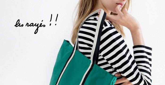 「agnès b. VOYAGE」からagnès b.の定番ボーダーTをアクセントに使ったバッグがリリース!