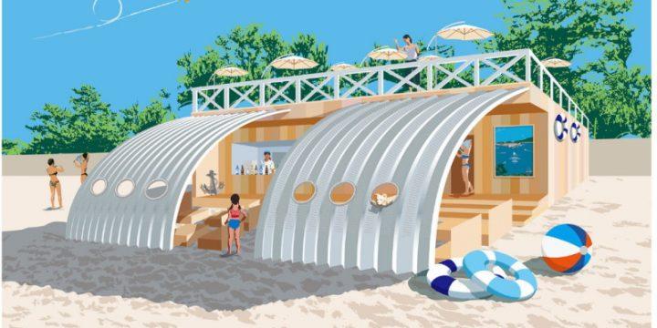 """「HELLY HANSEN」の環境に配慮した海の家""""THE SAIL HUS""""ではさまざまなイベントも開催"""