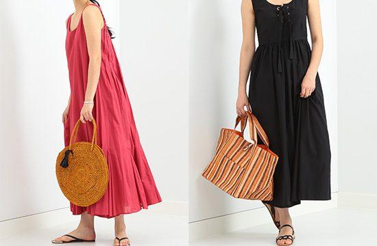 「MAISON N.H PARIS」と「Demi-Luxe BEAMS」によるカゴバッグはリゾートスタイルとの相性バツグンなんです!