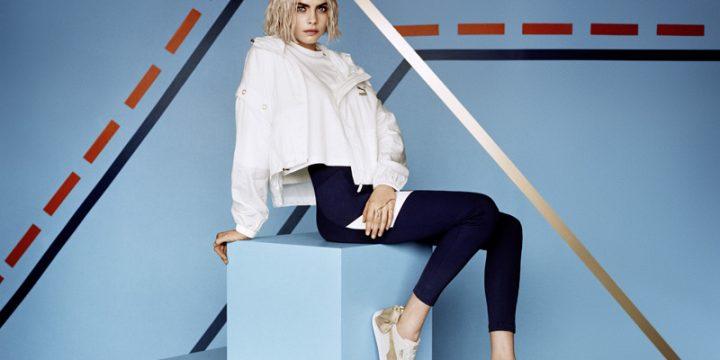 """「PUMA」の人気モデル""""SUEDE BOW""""の新作を履きこなすカーラ・デルヴィーニュのビジュアル"""