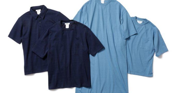 「MXP」初となる藍染めTシャツ&ポロシャツは涼しげな風合いでいまの季節に◎