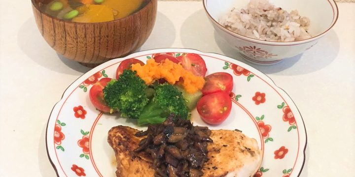 <第2回>鶏むね肉の舞茸ソース【管理栄養士作成・監修レシピ】
