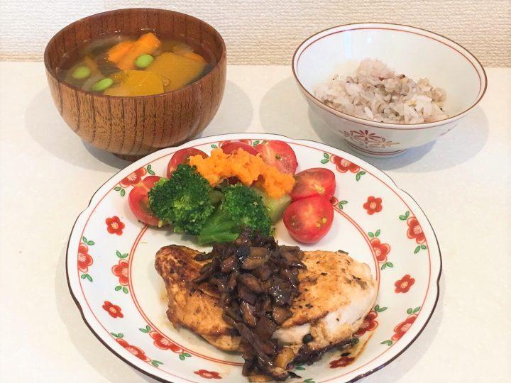 鶏むね肉の舞茸ソース
