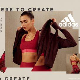 adidas STATEMENT COLLECTIONを着る女性