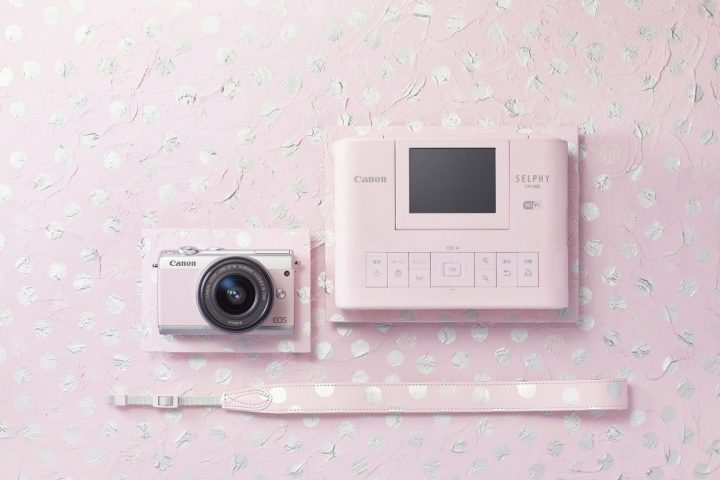 Canonからミラーレスカメラとコンパクトフォトプリンターがセットになった「リミテッドピンクフォトキット」が数量限定発売!