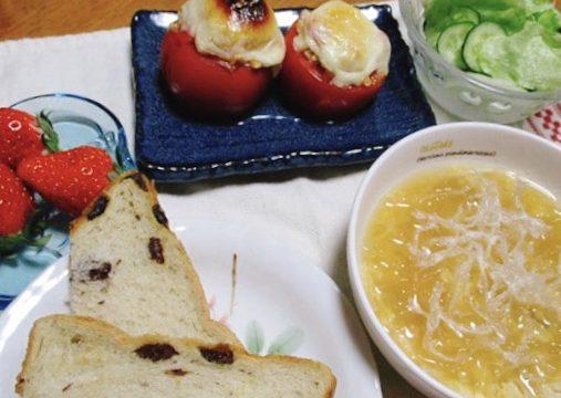 トマトカップのチーズ焼き